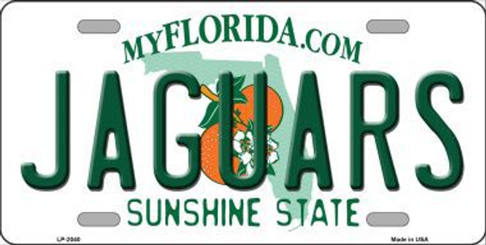 Jaguars Florida State Background Novelty Metal License Plate