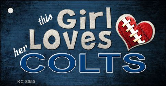 This Girl Loves Her Colts Novelty Metal Key Chain