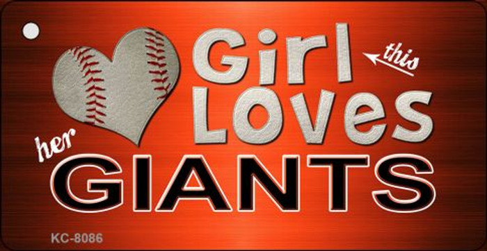 This Girl Loves Her Giants Novelty Metal Key Chain
