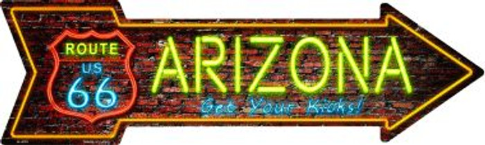 Arizona Novelty Metal Arrow Sign