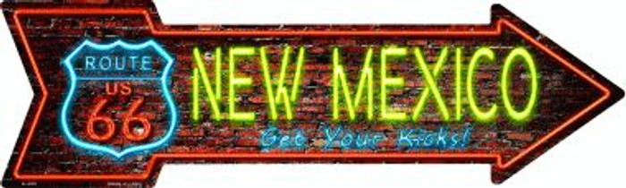 New Mexico Novelty Metal Arrow Sign