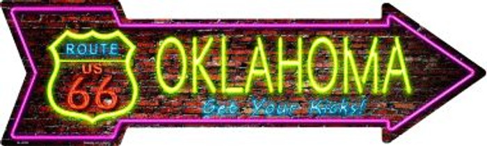Oklahoma Novelty Metal Arrow Sign