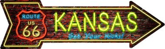 Kansas Novelty Metal Arrow Sign