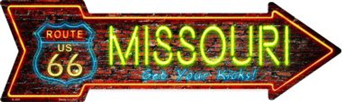 Missouri Novelty Metal Arrow Sign A-300