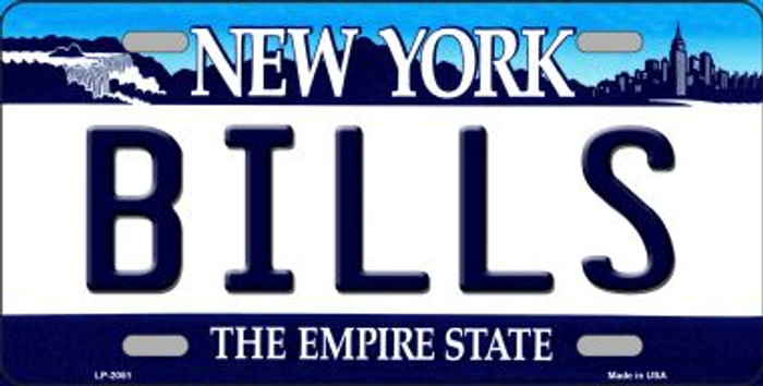 Bills New York State Background Novelty Metal License Plate