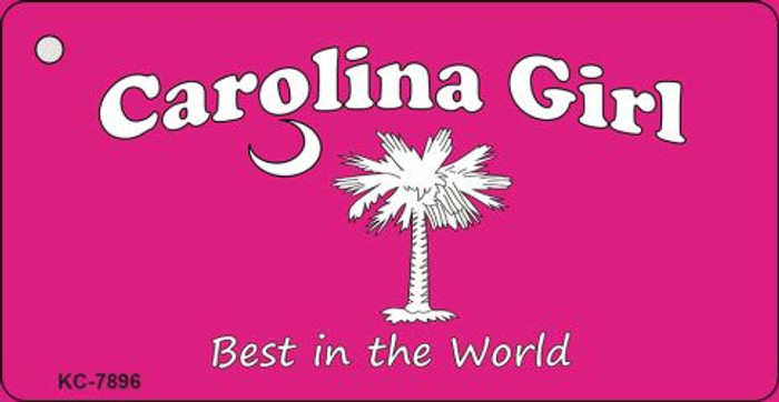 Carolina Girl Pink Novelty Key Chain