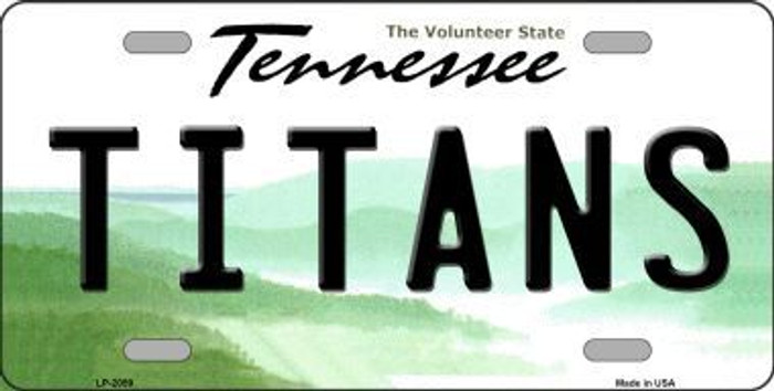 Titans Tennessee State Background Novelty Metal License Plate