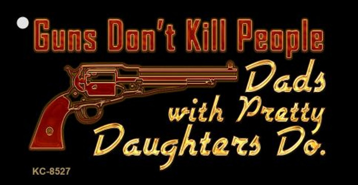 Guns Dont Kill People Novelty Metal Key Chain