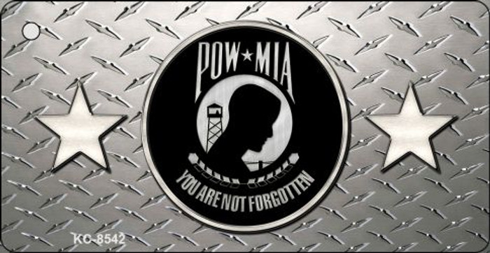 POW MIA Diamond Novelty Metal Key Chain