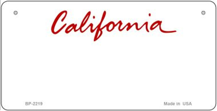 California State Background Novelty Bicycle License Plate