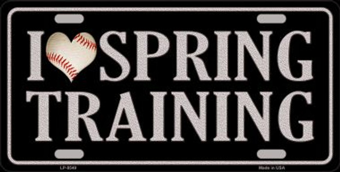 I Love Spring Training Novelty Metal License Plate