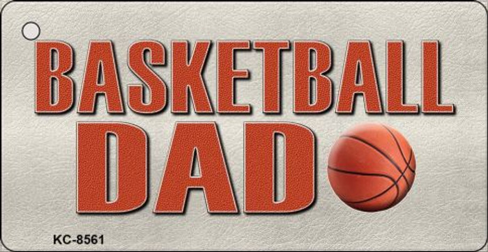 Basketball Dad Novelty Metal Key Chain