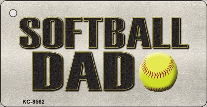 Softball Dad Novelty Metal Key Chain