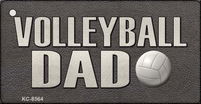 Volleyball Dad Novelty Metal Key Chain