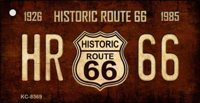 Historic Route 66 Vintage Novelty Metal Key Chain
