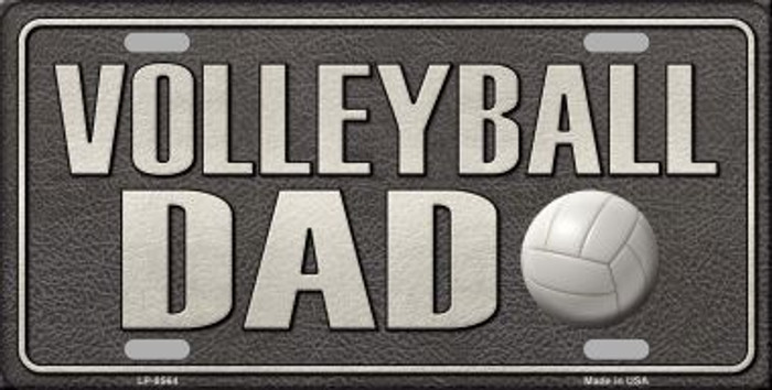Volleyball Dad Novelty Metal License Plate
