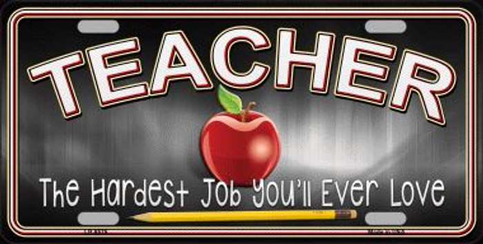 Teacher Novelty Metal License Plate