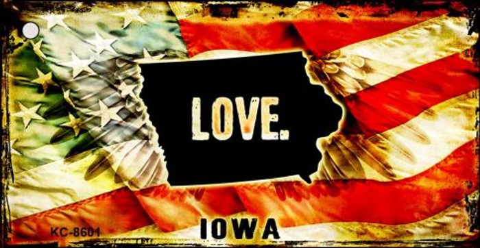 Iowa Love Novelty Metal Key Chain