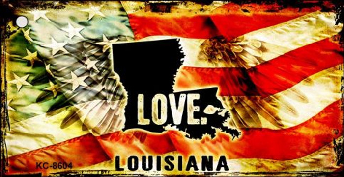 Louisiana Love Novelty Metal Key Chain