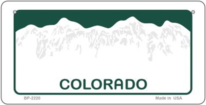Colorado State Background Novelty Bicycle License Plate