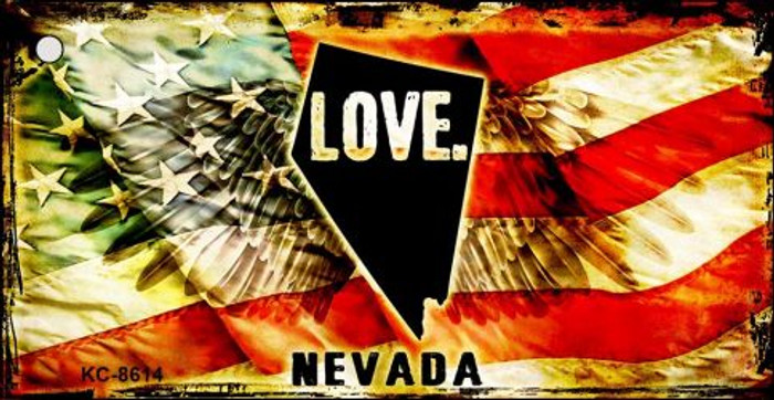 Nevada Love Novelty Metal Key Chain