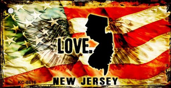 New Jersey Love Novelty Metal Key Chain