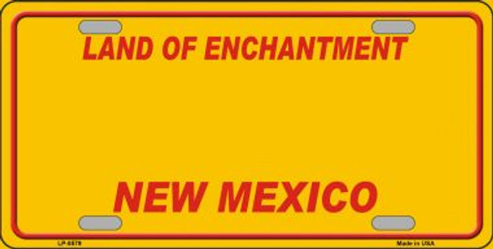 New Mexico Yellow Background Novelty Metal License Plate