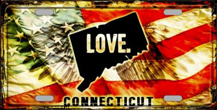 Connecticut Love Novelty Metal License Plate