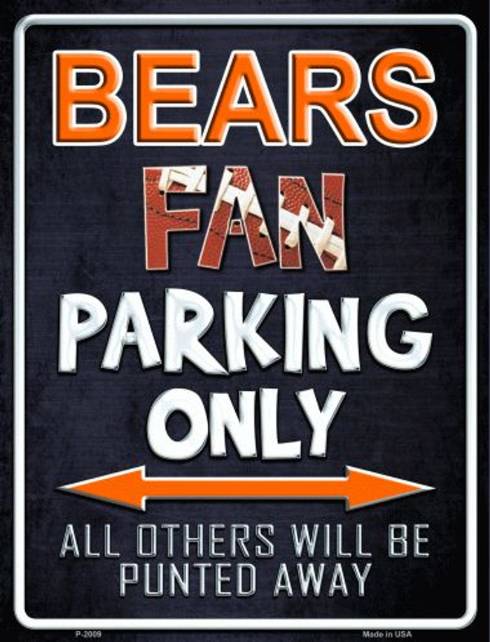 Bears Metal Novelty Parking Sign
