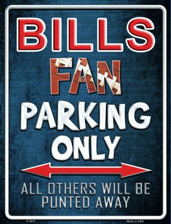 Bills Metal Novelty Parking Sign