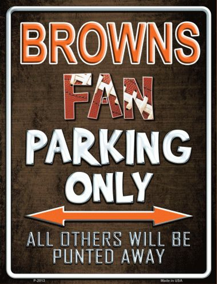 Browns Metal Novelty Parking Sign