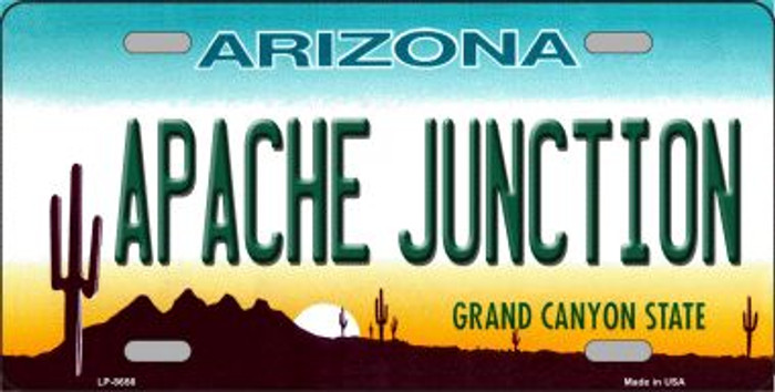 Apache Junction Arizona Background Novelty Metal License Plate