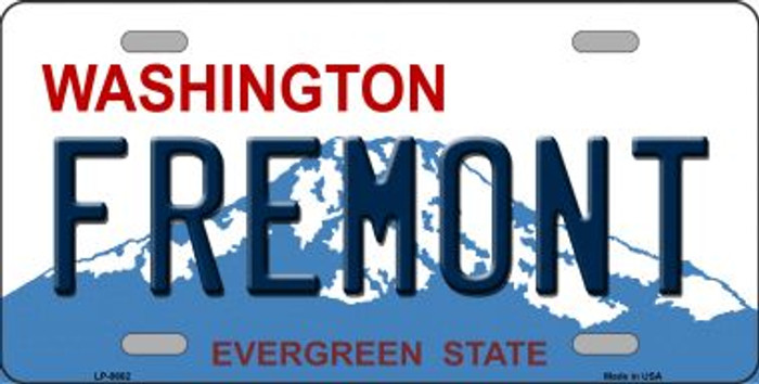Fremont Washington Background Novelty Metal License Plate