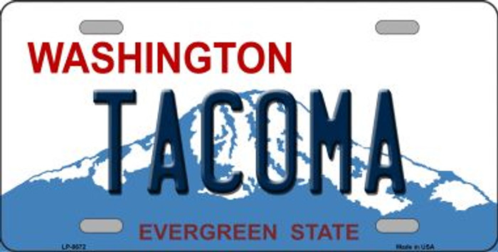 Tacoma Washington Background Novelty Metal License Plate