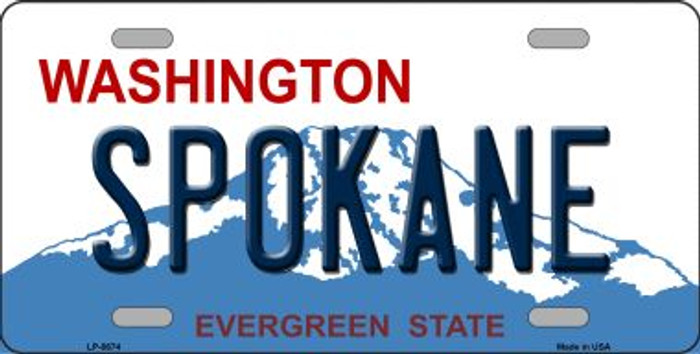 Spokane Washington Background Novelty Metal License Plate