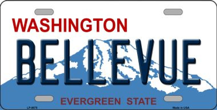 Bellevue Washington Background Novelty Metal License Plate