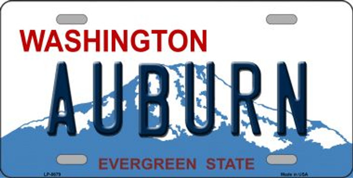 Auburn Washington Background Novelty Metal License Plate