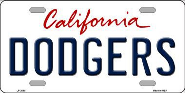 Dodgers California State Background Novelty Metal License Plate