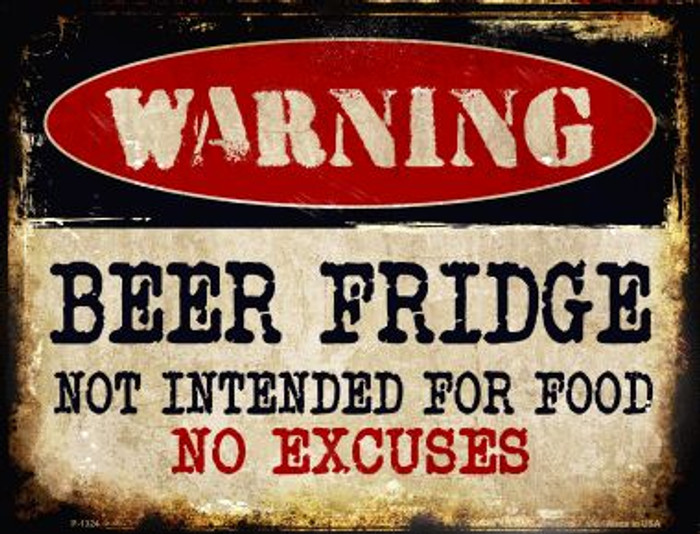 Beer Fridge Metal Novelty Parking Sign