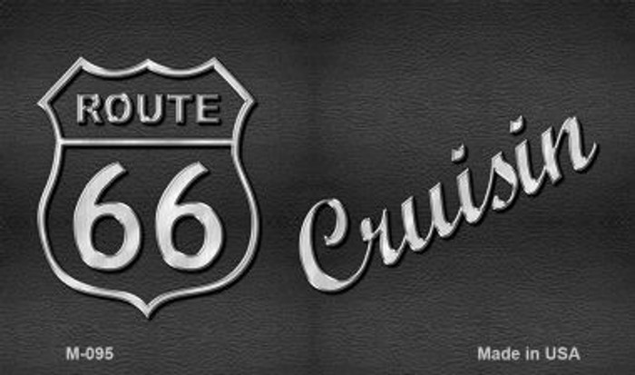 Route 66 Cruisin Novelty Metal Magnet