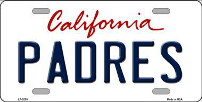 Padres California State Background Novelty Metal License Plate