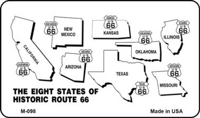 Route 66 Historic Eight Novelty Metal Magnet
