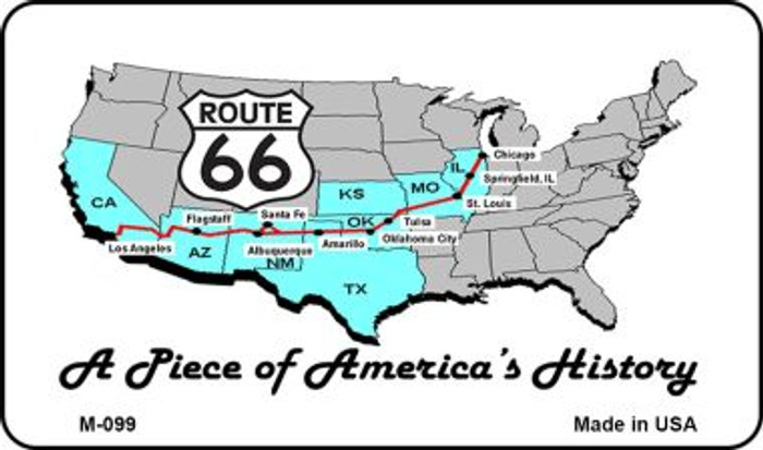 Route 66 A Piece Of History Novelty Metal Magnet