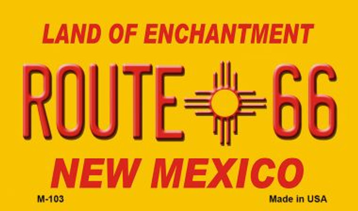 Route 66 New Mexico Novelty Metal Magnet