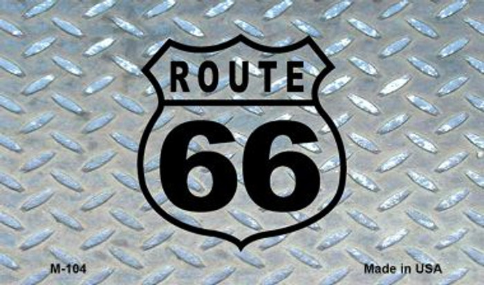 Route 66 Diamond Novelty Metal Magnet