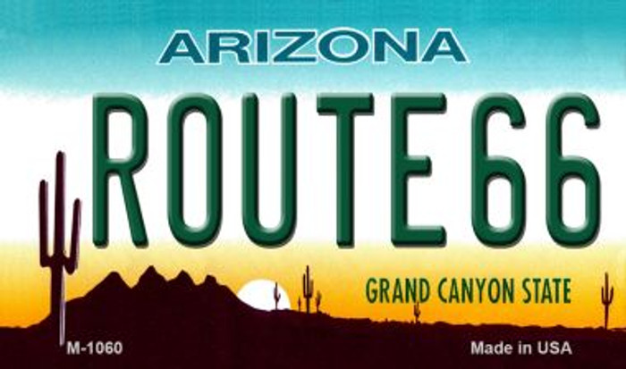 Route 66 Arizona Novelty Metal Magnet