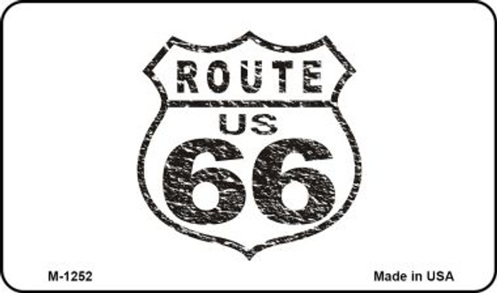Route 66 Distressed Novelty Metal Magnet
