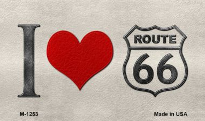 I Love Route 66 Novelty Metal Magnet