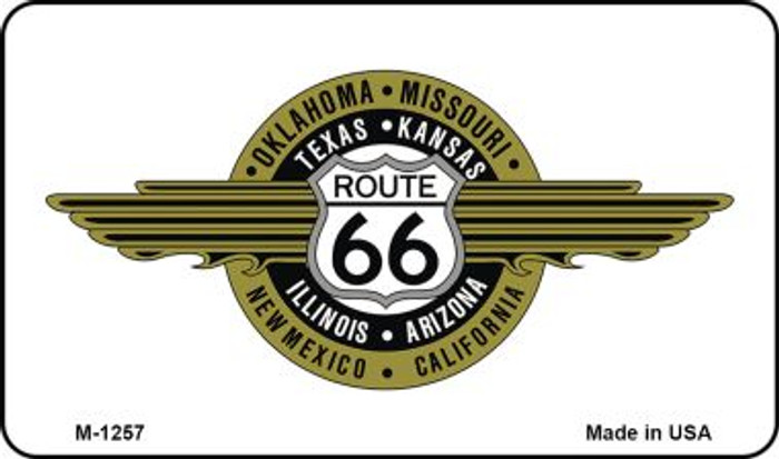 Route 66 Badge Novelty Metal Magnet