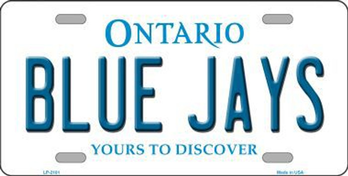 Blue Jays Toronto Canada Province Background Metal Novelty License Plate